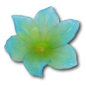 DAUM AMARYLLIS FLOWER PATE DE VERRE CRYSTAL COUPEL